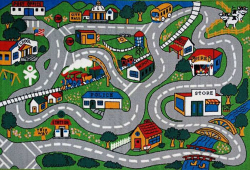 Fun Rugs Fun Time Collection Home Kids Room Decorative Floor Area - Kids room area rugs