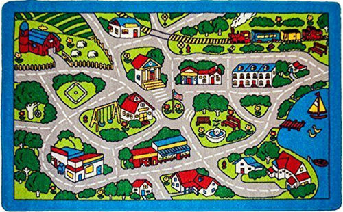 Captivating Kids Rug Street Map Children Area Rug ...
